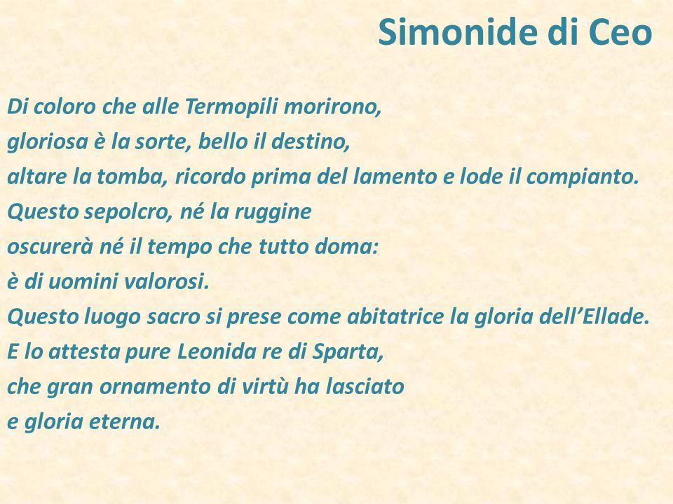 Simonide di Ceo Di coloro che alle Termopili morirono,