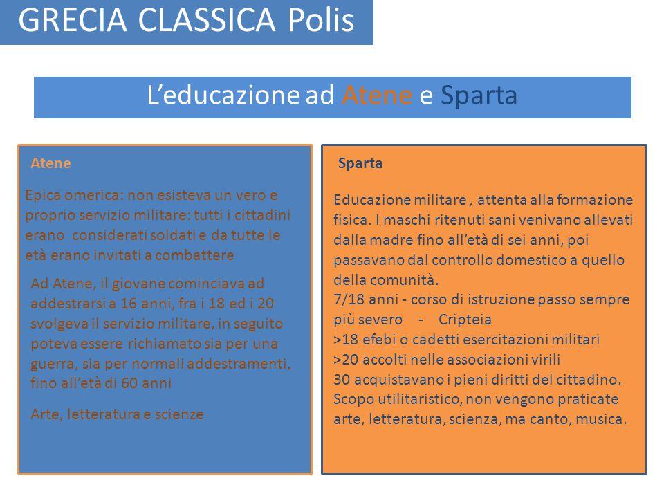 L'educazione ad Atene e Sparta