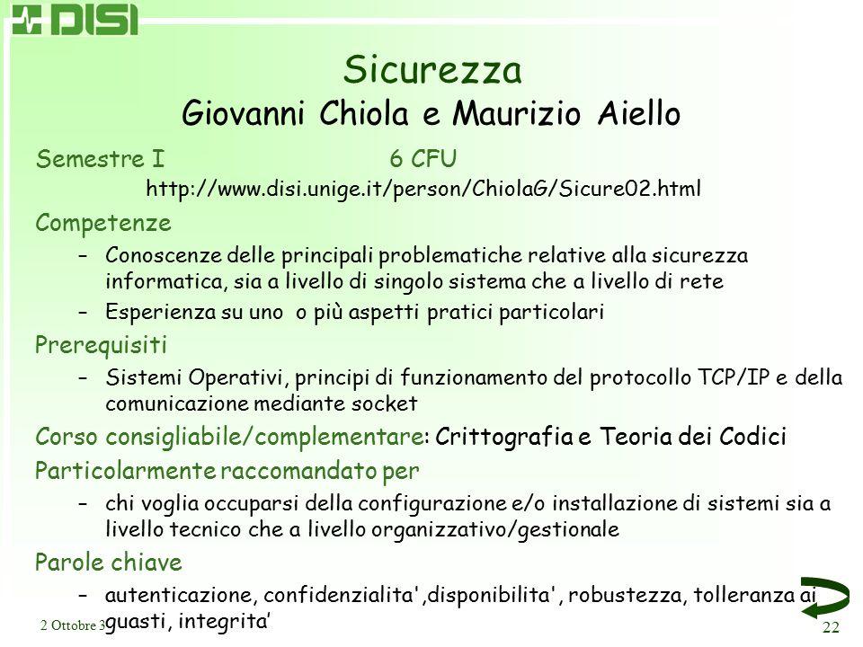 Architetture Parallele I e II Giuseppe Ciaccio