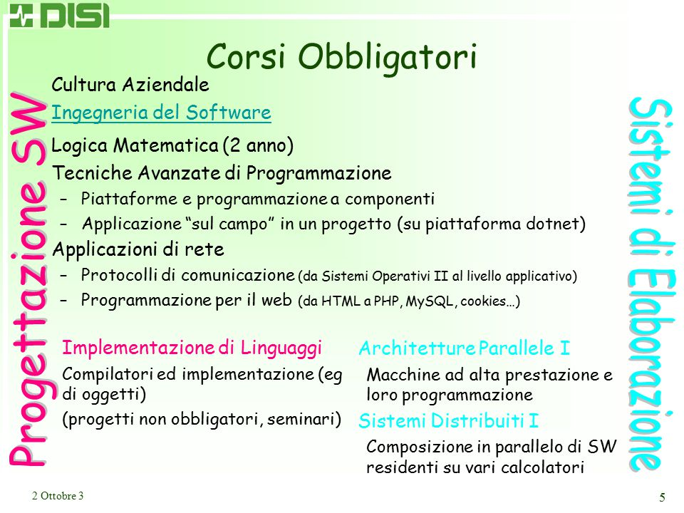 Scopo della presentazione II