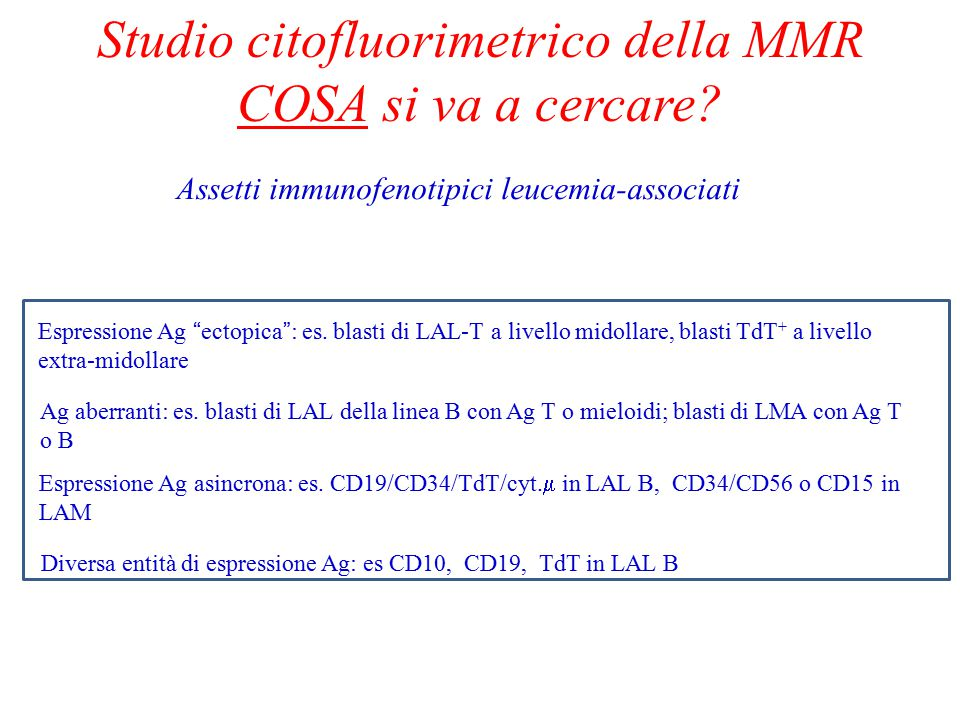 Studio citofluorimetrico della MMR COSA si va a cercare