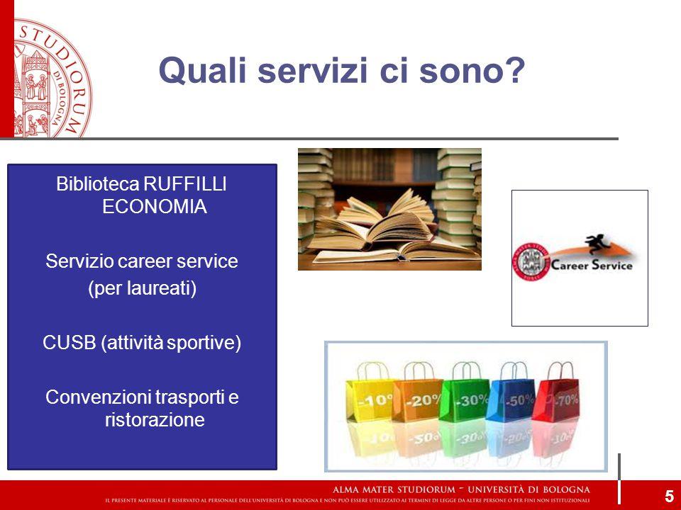 Quali servizi ci sono Biblioteca RUFFILLI ECONOMIA