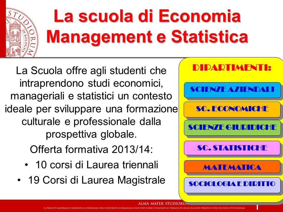 La scuola di Economia Management e Statistica