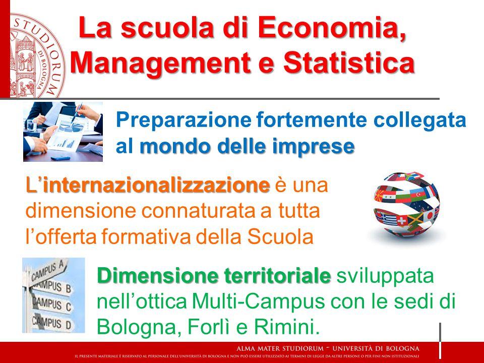 La scuola di Economia, Management e Statistica