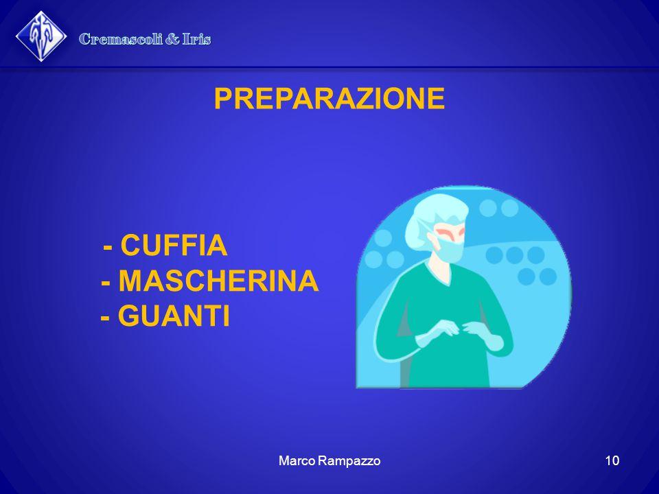 PREPARAZIONE - CUFFIA - MASCHERINA - GUANTI
