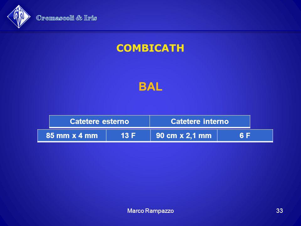 Cremascoli & Iris BAL COMBICATH Catetere esterno Catetere interno