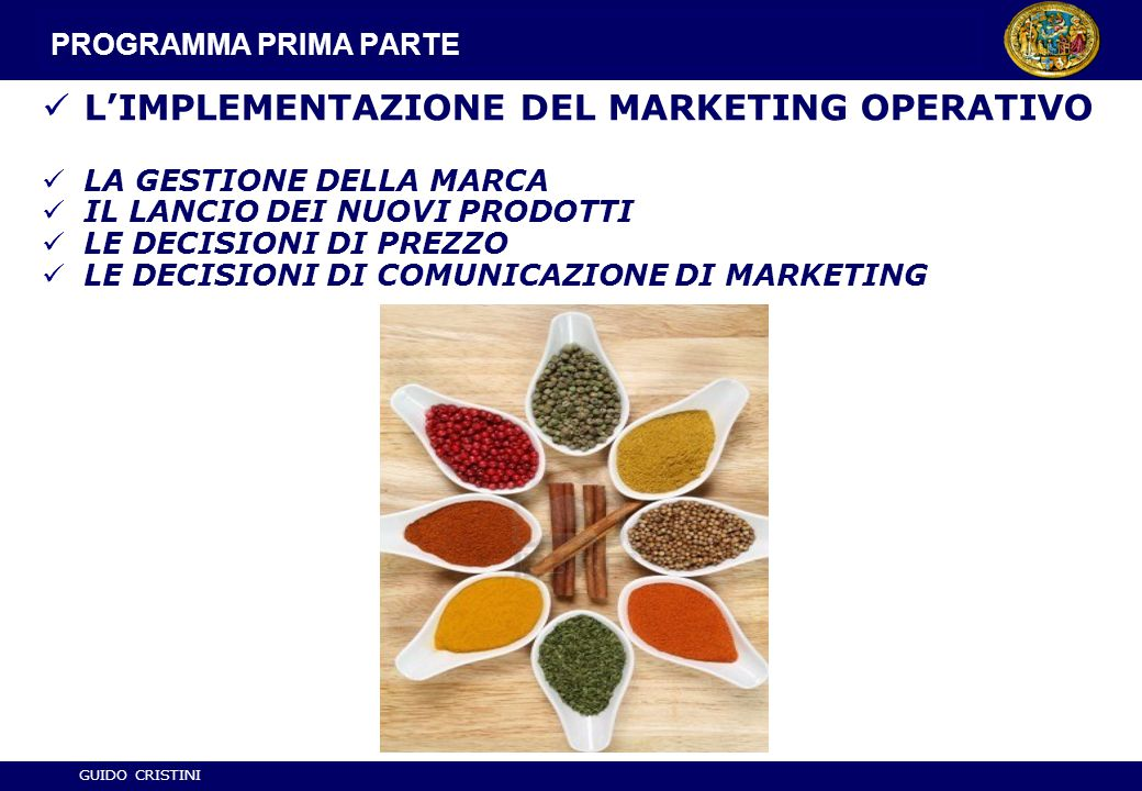 L'IMPLEMENTAZIONE DEL MARKETING OPERATIVO