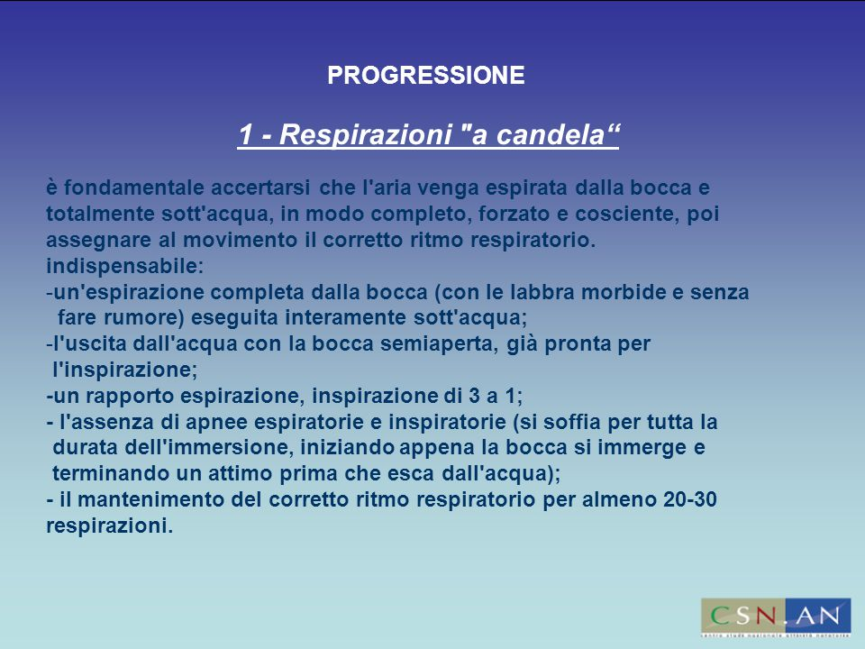 1 - Respirazioni a candela