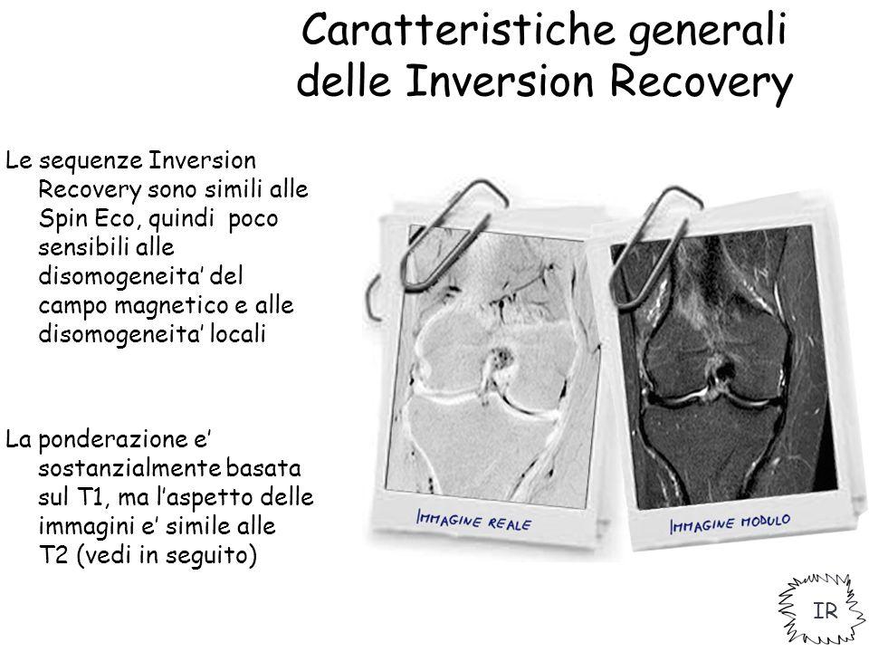 Caratteristiche generali delle Inversion Recovery