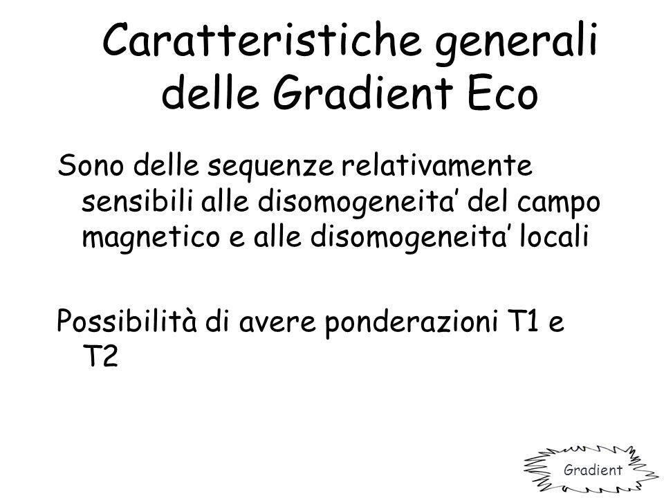 Caratteristiche generali delle Gradient Eco
