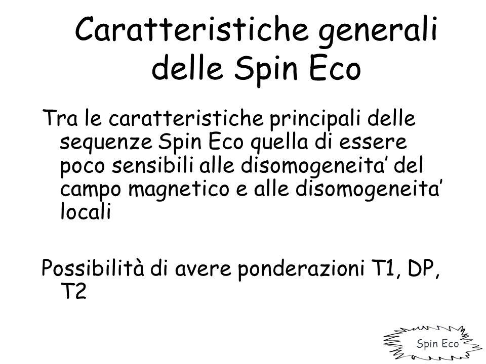 Caratteristiche generali delle Spin Eco