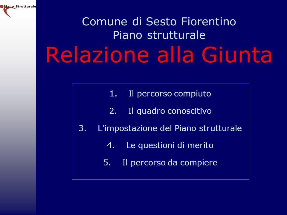 Comune di Sesto Fiorentino Piano strutturale Relazione alla Giunta