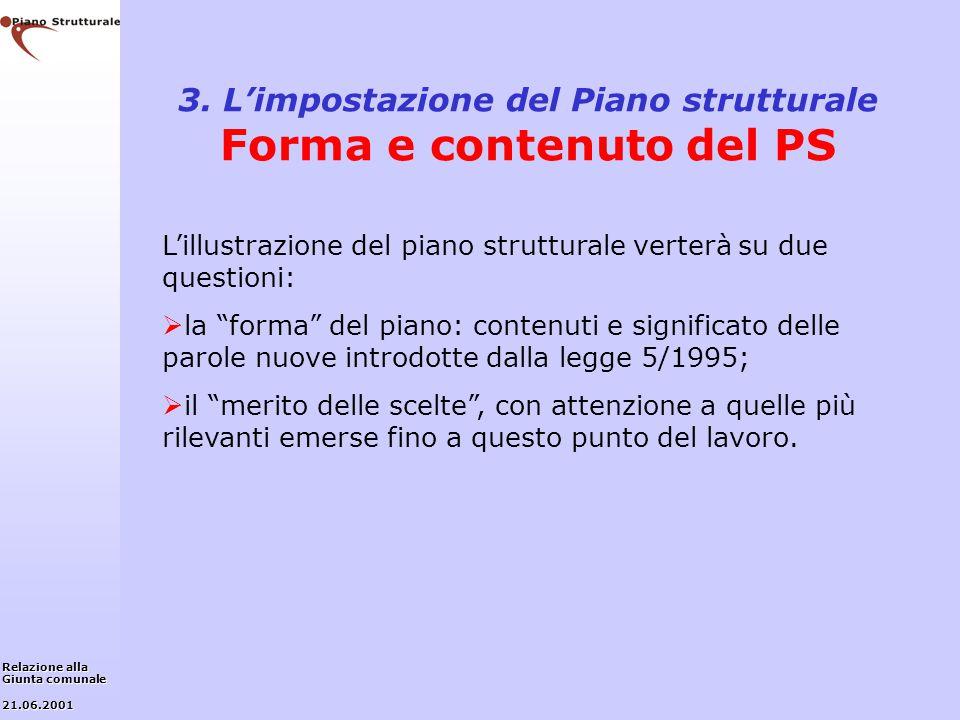 3. L'impostazione del Piano strutturale Forma e contenuto del PS