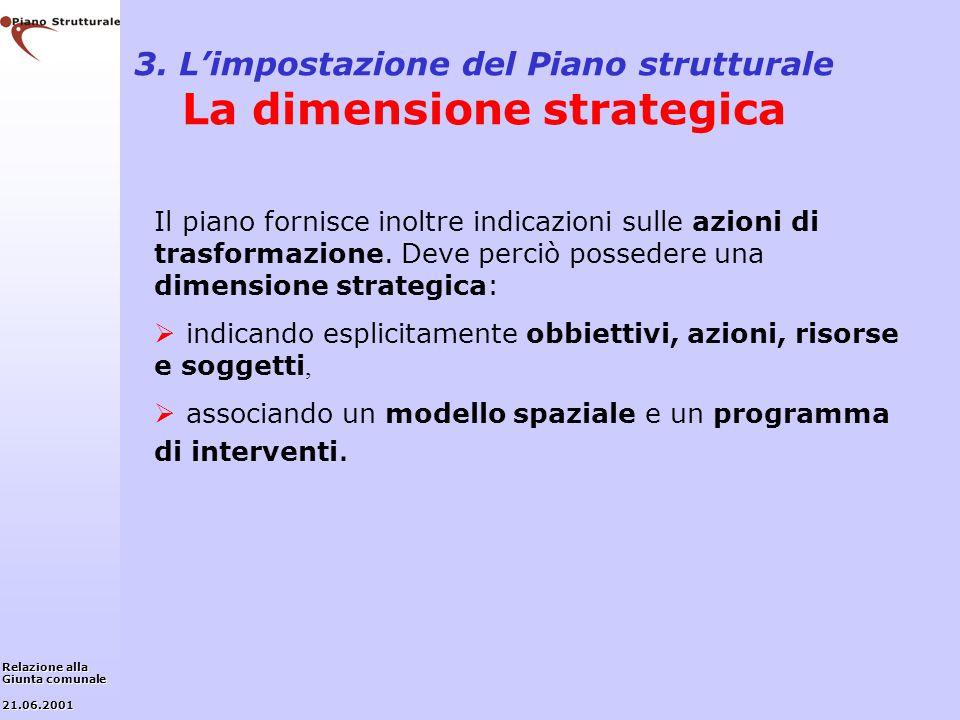 3. L'impostazione del Piano strutturale La dimensione strategica