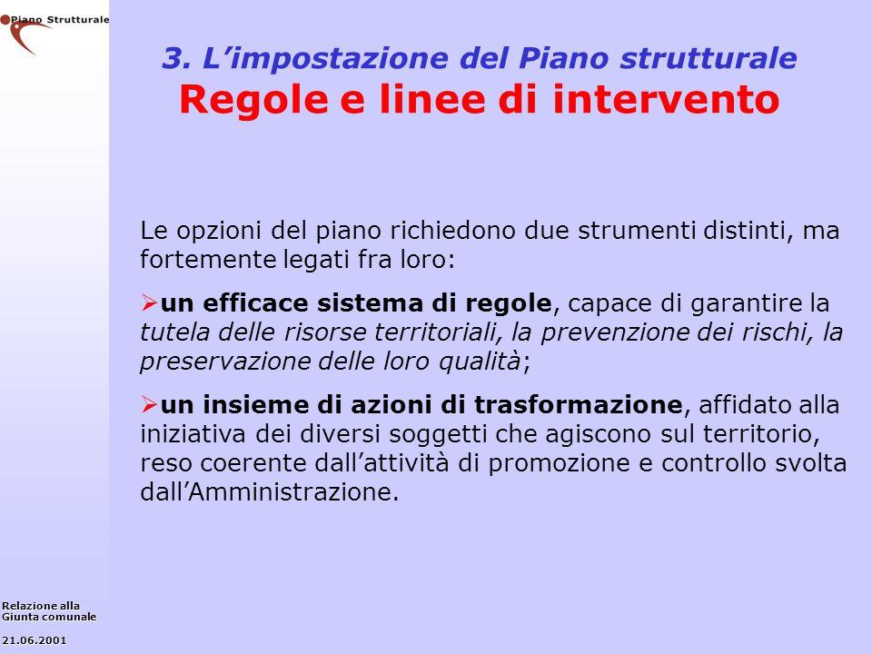 3. L'impostazione del Piano strutturale Regole e linee di intervento
