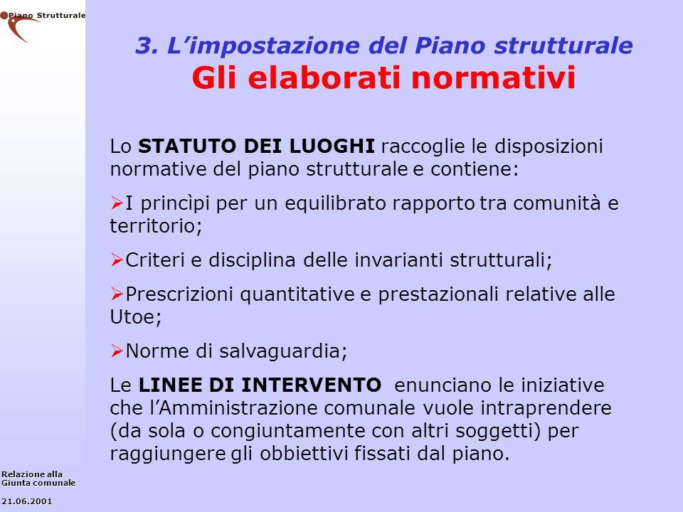 3. L'impostazione del Piano strutturale Gli elaborati normativi