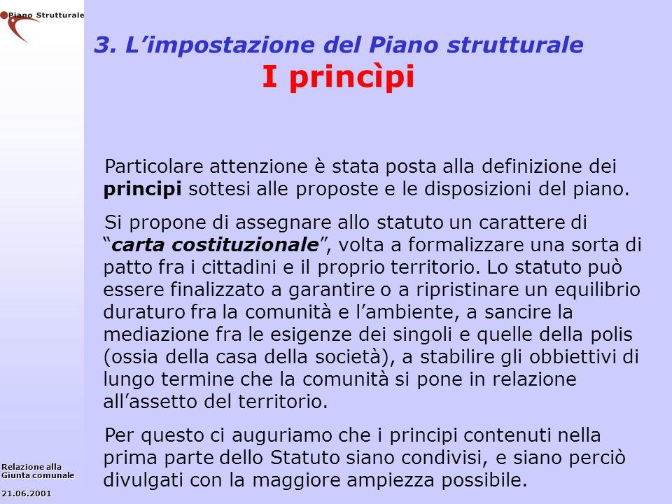 3. L'impostazione del Piano strutturale I princìpi
