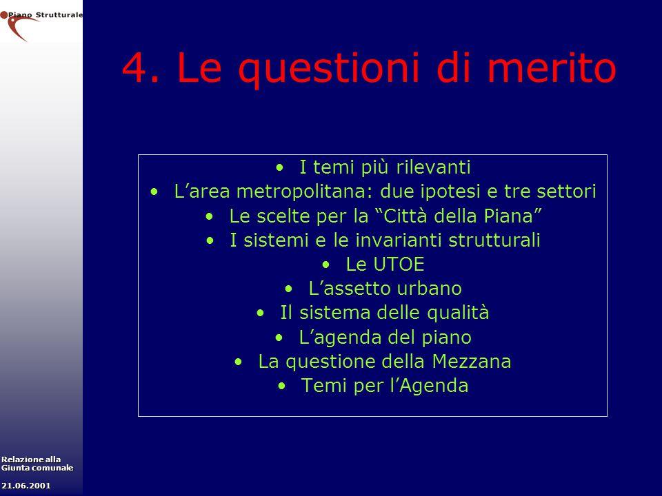 4. Le questioni di merito I temi più rilevanti
