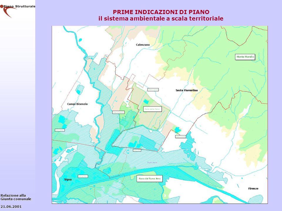 PRIME INDICAZIONI DI PIANO il sistema ambientale a scala territoriale