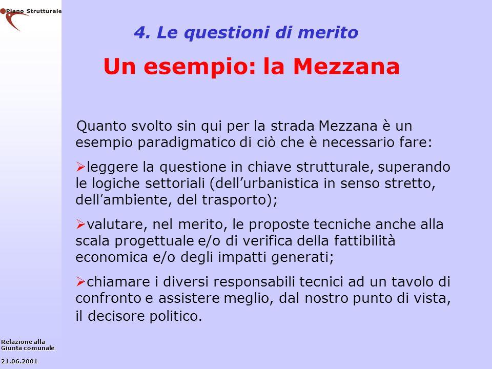 4. Le questioni di merito Un esempio: la Mezzana