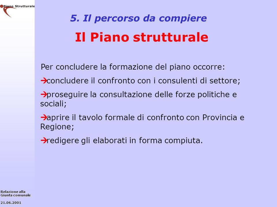 5. Il percorso da compiere Il Piano strutturale
