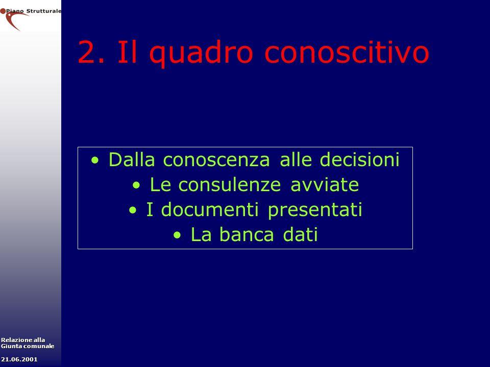 2. Il quadro conoscitivo Dalla conoscenza alle decisioni