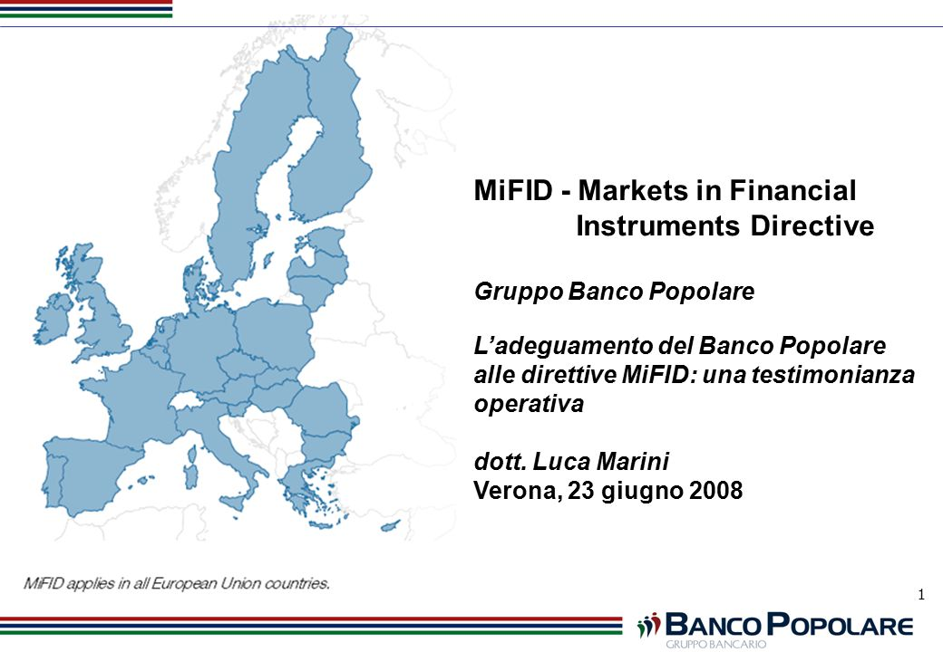 MiFID - Markets in Financial Instruments Directive