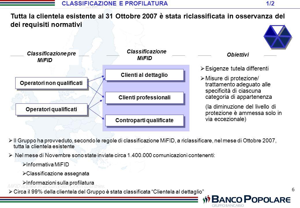 CLASSIFICAZIONE E PROFILATURA 1/2