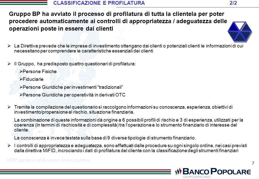CLASSIFICAZIONE E PROFILATURA 2/2