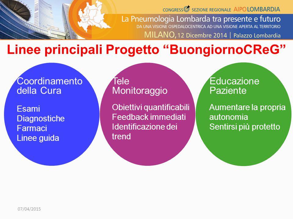 Linee principali Progetto BuongiornoCReG