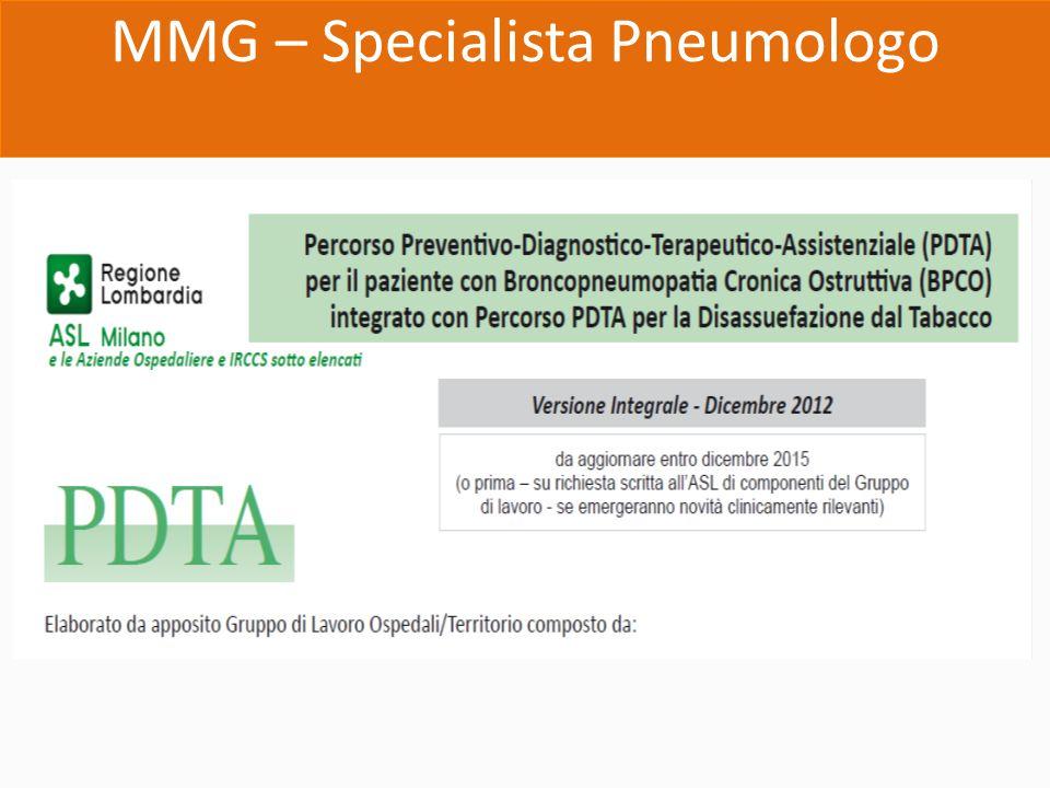 MMG – Specialista Pneumologo