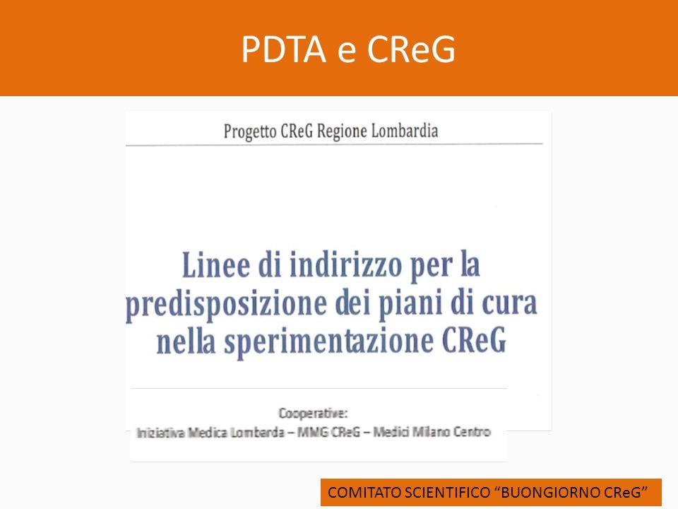 PDTA e CReG COMITATO SCIENTIFICO BUONGIORNO CReG