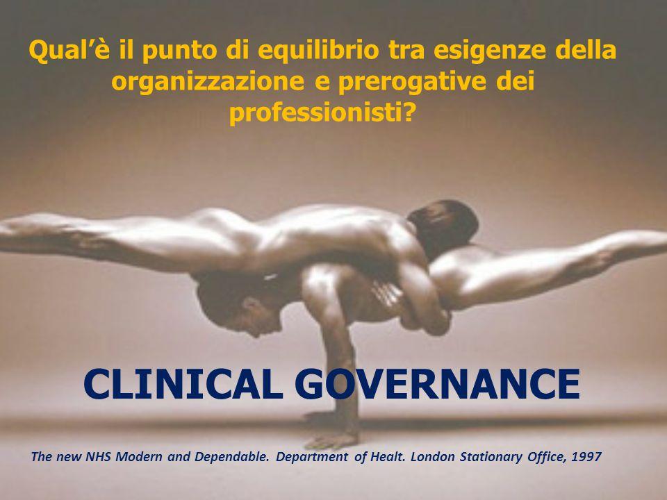 Qual'è il punto di equilibrio tra esigenze della organizzazione e prerogative dei professionisti