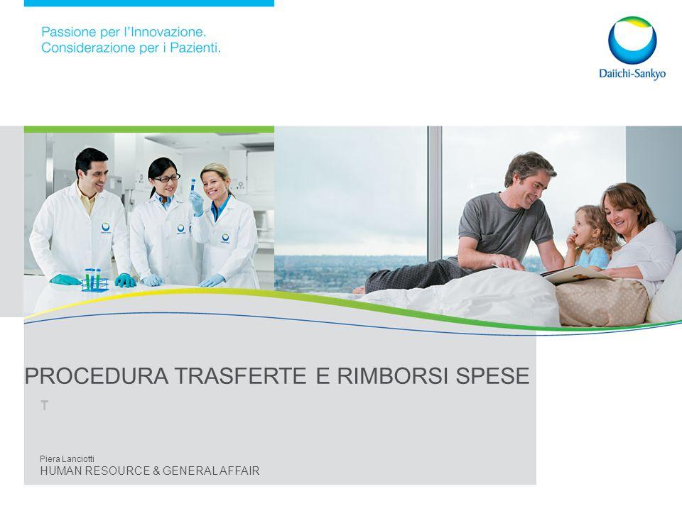 PROCEDURA TRASFERTE E RIMBORSI SPESE