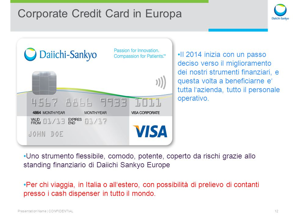 Corporate Credit Card in Europa