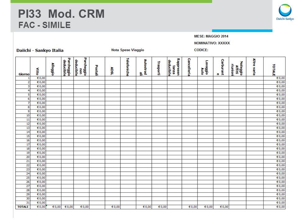 PI33 Mod. CRM FAC - SIMILE
