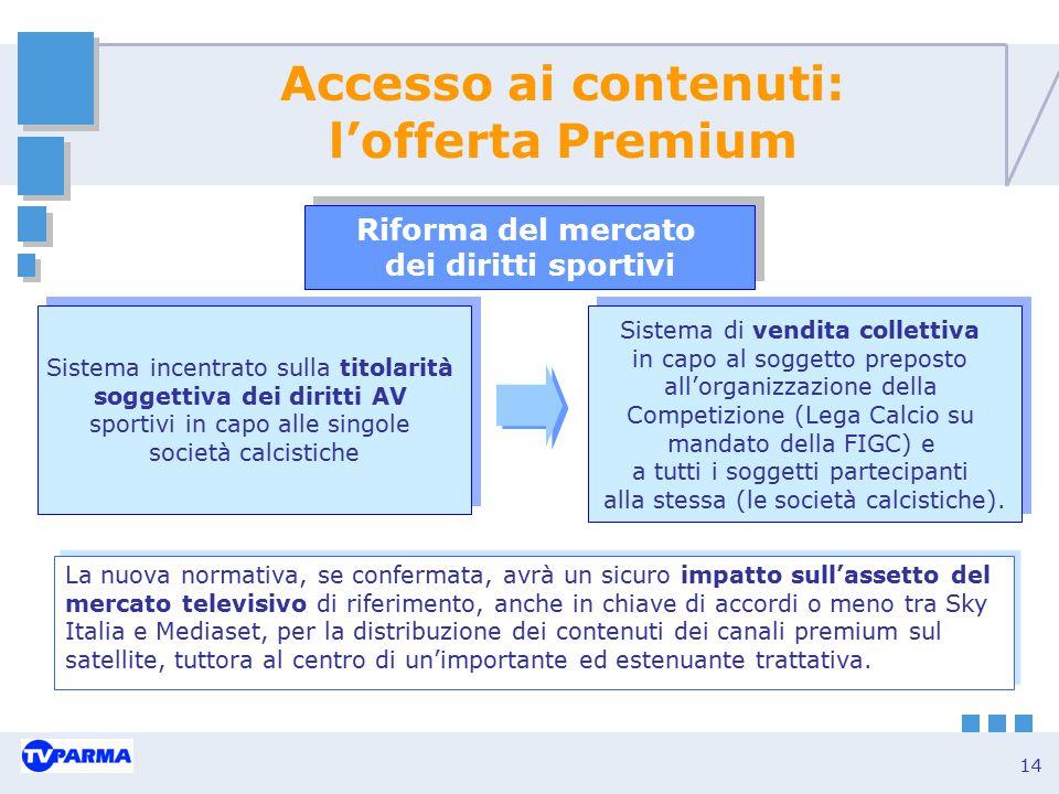 Accesso ai contenuti: l'offerta Premium