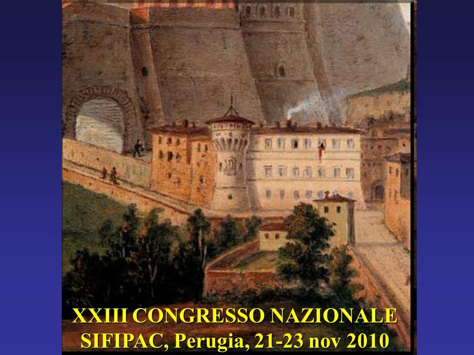 XXIII CONGRESSO NAZIONALE SIFIPAC, Perugia, 21-23 nov 2010