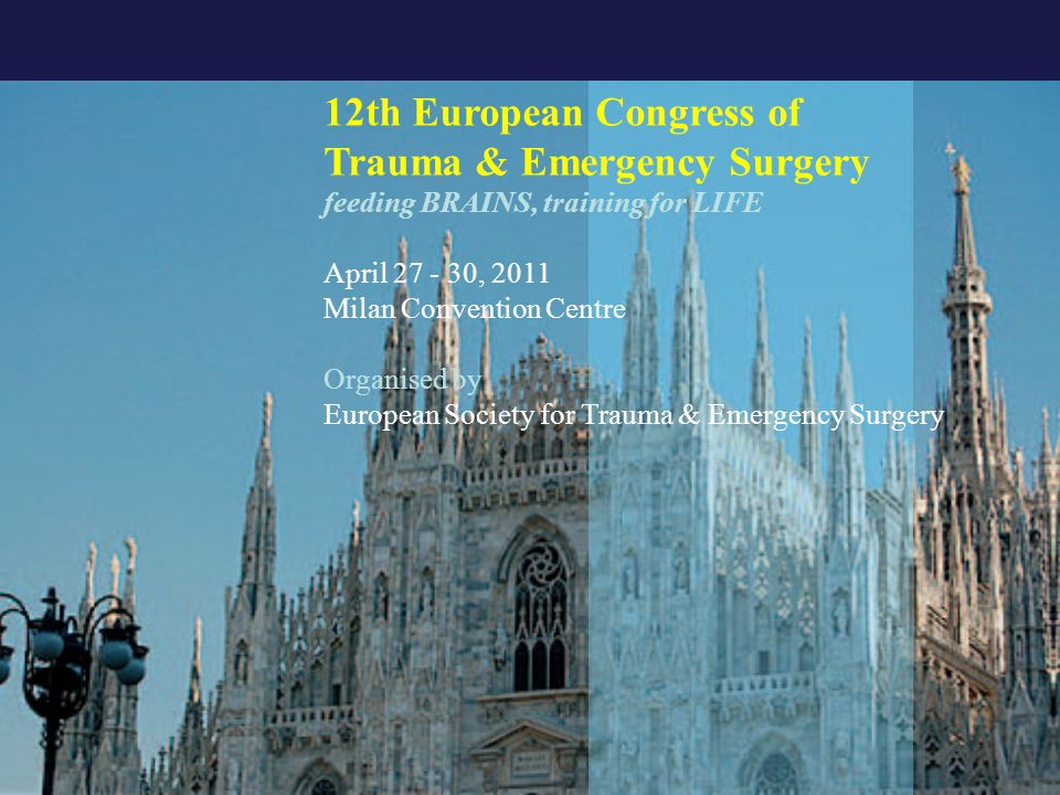12th European Congress of Trauma & Emergency Surgery