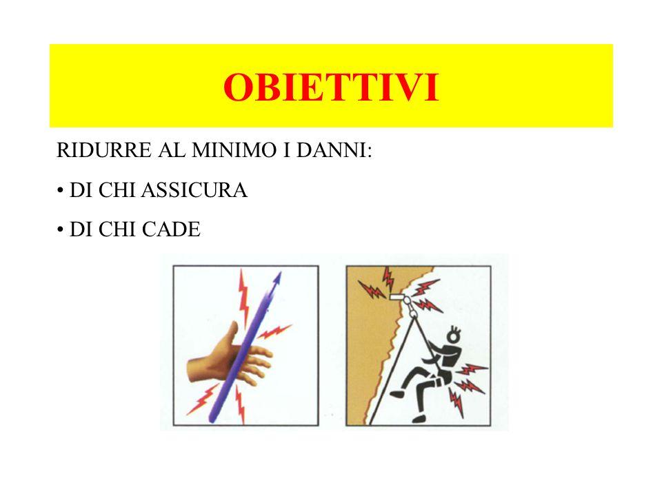 OBIETTIVI RIDURRE AL MINIMO I DANNI: DI CHI ASSICURA DI CHI CADE