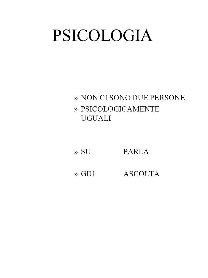 PSICOLOGIA NON CI SONO DUE PERSONE PSICOLOGICAMENTE UGUALI SU PARLA