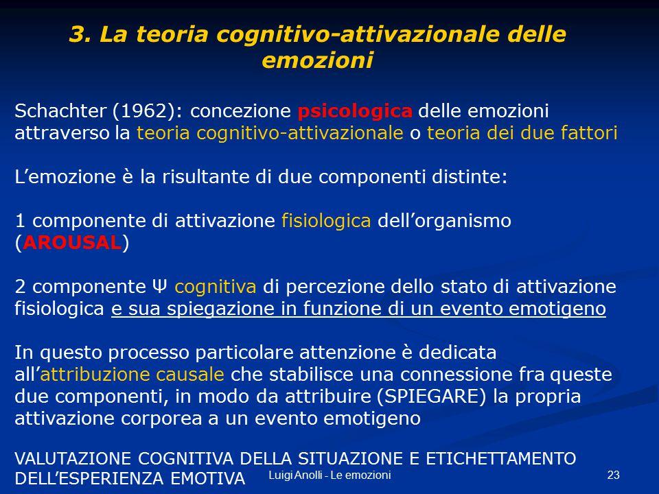 3. La teoria cognitivo-attivazionale delle emozioni