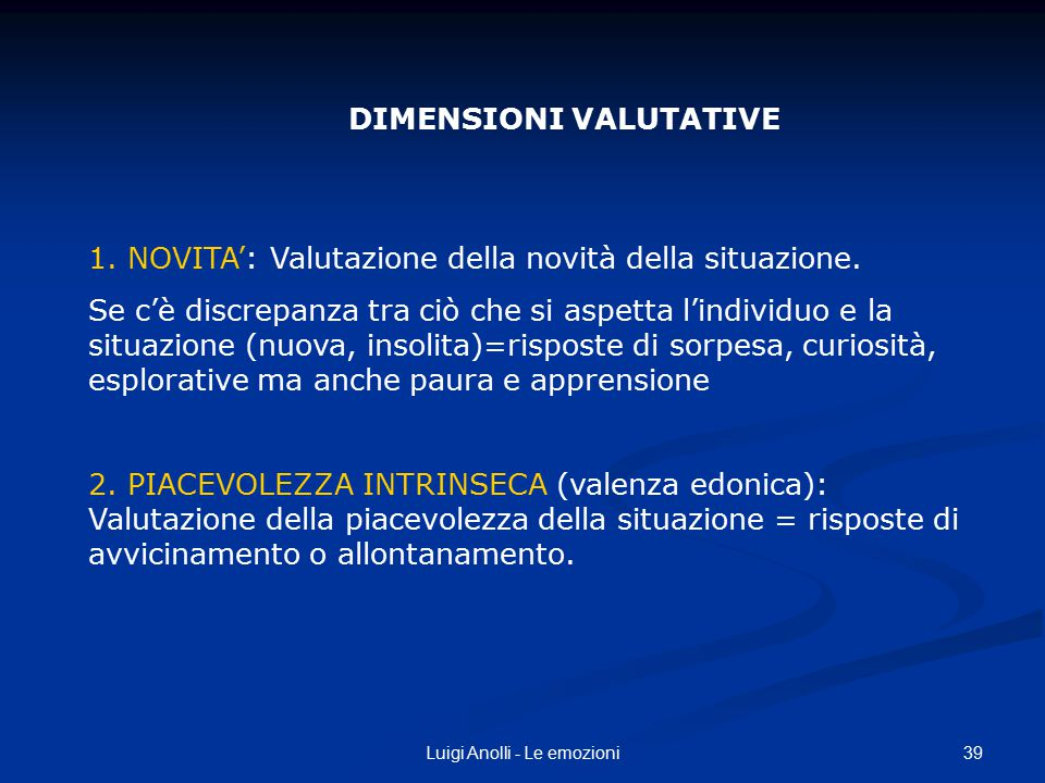 DIMENSIONI VALUTATIVE
