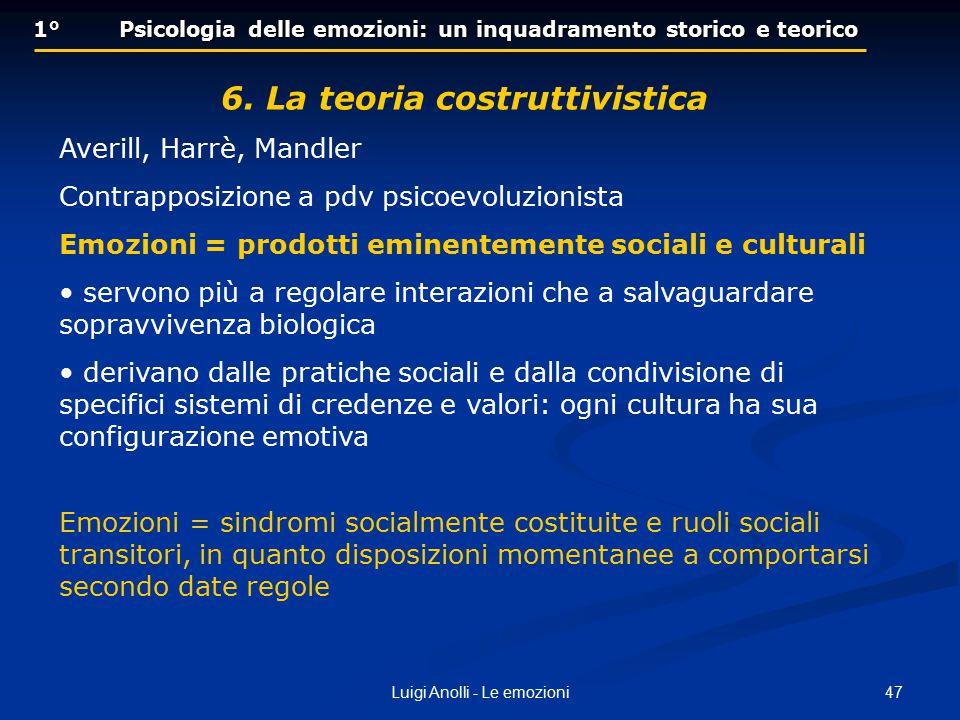 1° Psicologia delle emozioni: un inquadramento storico e teorico