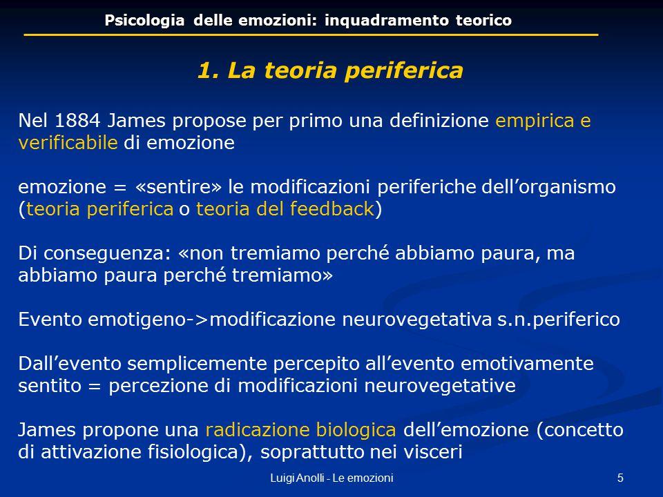Psicologia delle emozioni: inquadramento teorico
