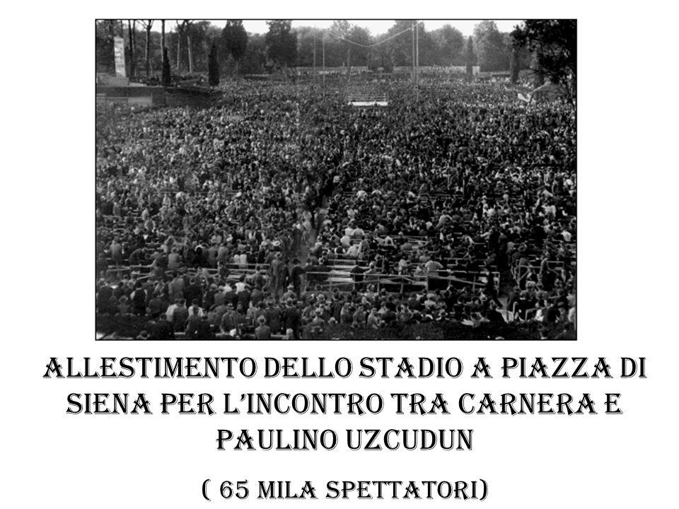 allestimento dello stadio a Piazza di Siena per l'incontro tra Carnera e Paulino Uzcudun