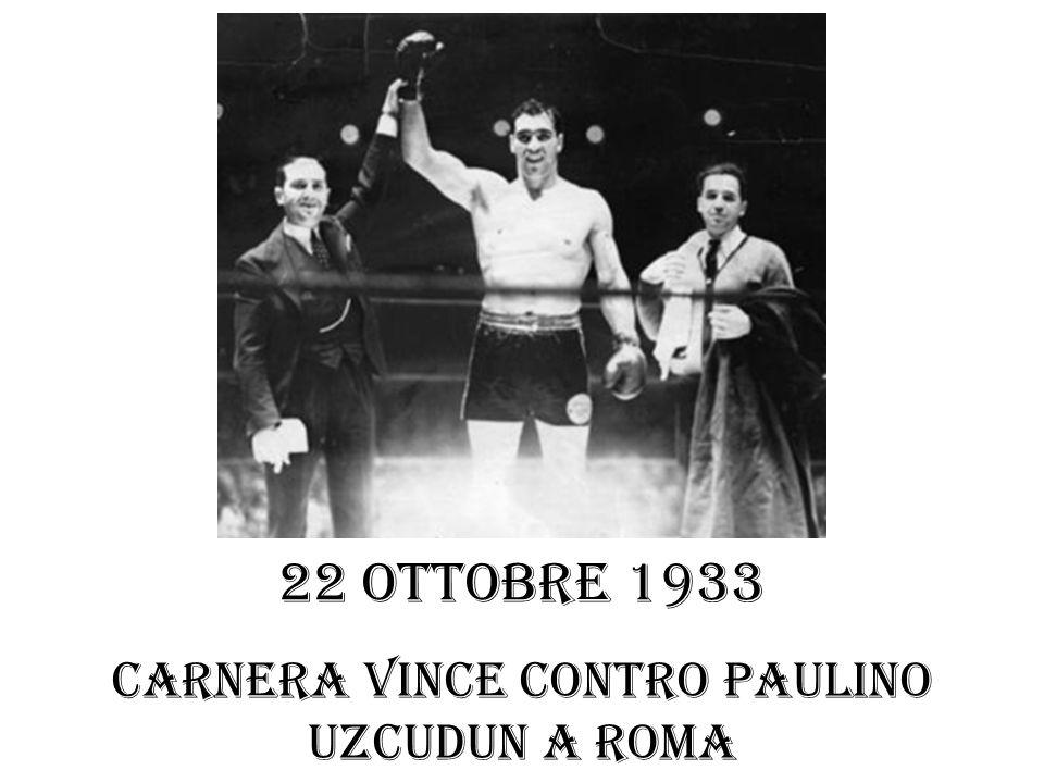 Carnera vince contro Paulino Uzcudun a Roma