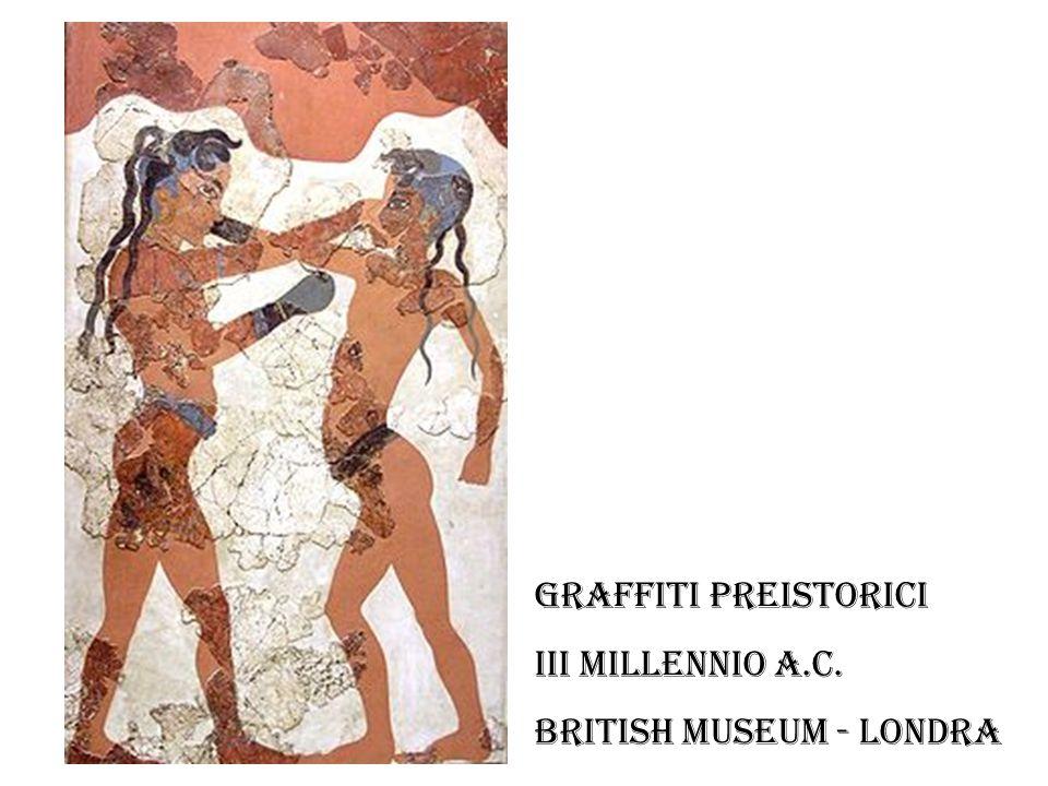 Graffiti preistorici III millennio a.C. British Museum - Londra