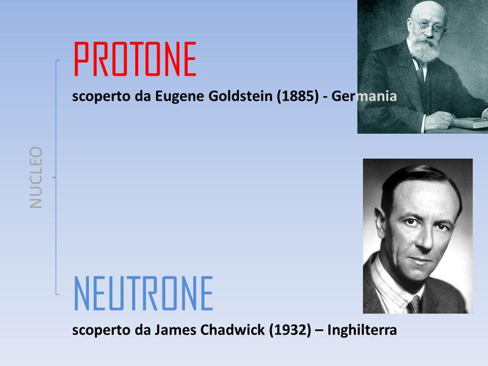 PROTONE NEUTRONE NUCLEO scoperto da Eugene Goldstein (1885) - Germania