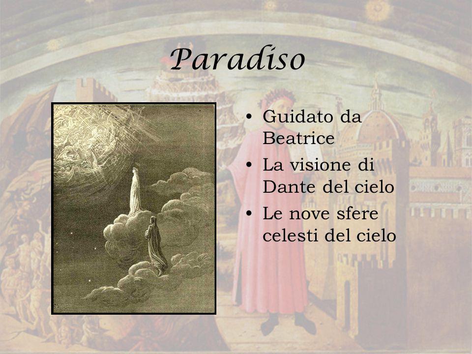 Paradiso Guidato da Beatrice La visione di Dante del cielo